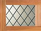 Garador Accessories - Timber Diagonal Leaded Window